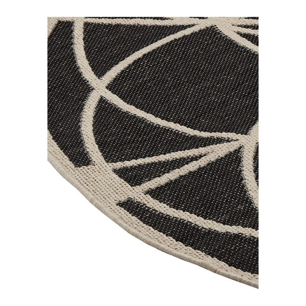 Covor foarte rezistent Floorita Tondo Black, ⌀ 194 cm
