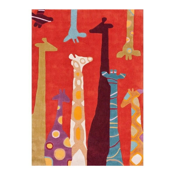 Ručně tuftovaný koberec nuLOOM Giraffe Red, 106x168cm