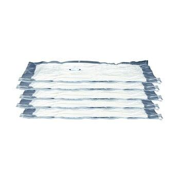 Set 5 saci pentru stocat îmbrăcăminte cu vacuum Compactor Aspispace, 90x55cm imagine