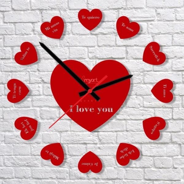 Nástěnné hodiny Say i Love You