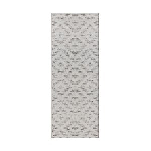 Krémovo-béžový běhoun vhodný do exteriéru Elle Decor Curious Creil, 77 x 200 cm