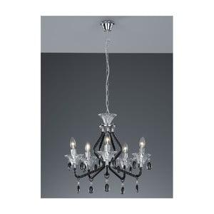 Stropní lustr Chandelier, černý