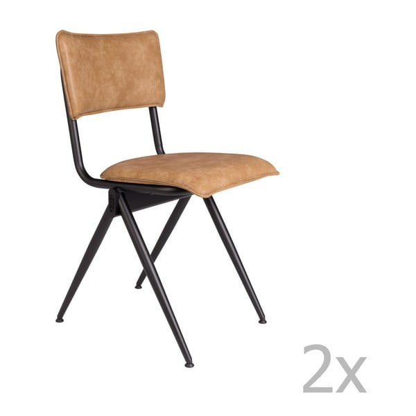 Willow 2 részes világosbarna szék szett - Dutchbone