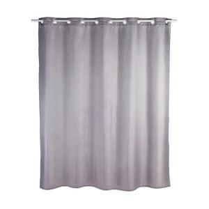 Šedý sprchový závěs Wenko Comfort Flex, 180 x 200 cm