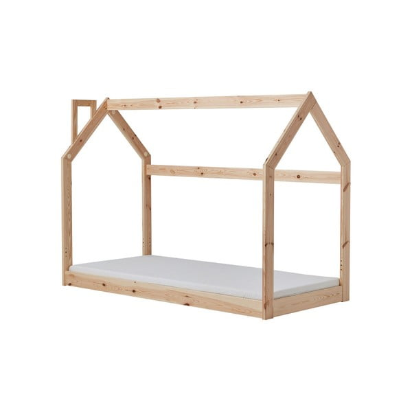 House házikó alakú fa gyerekágy, 166 x 141 cm - Pinio