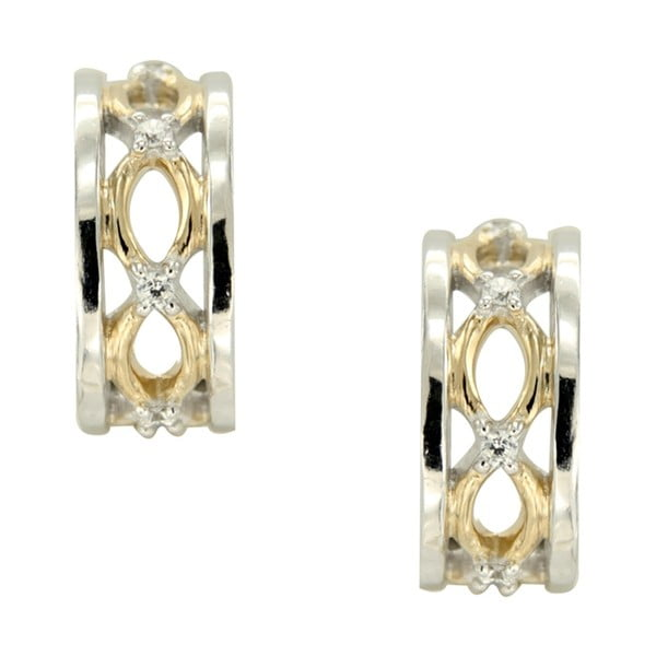 Kolczyki srebrne z białymi kryształami Swarovski Elements Crystals Lina