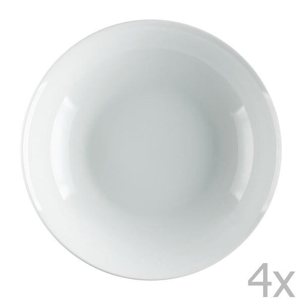 Sada 4 porcelánových polévkových talířů Sola Lunasol