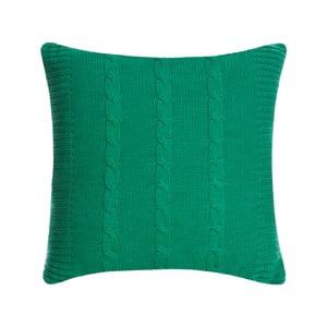 Pletený polštář Kosem 43x43 cm, zelený