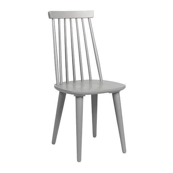 Světle šedá jídelní židle ze dřeva kaučukovníku Rowico Lotta