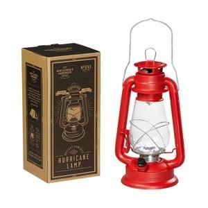 Červená lucerna Gentlemen's Hardware Hurrricane Lamp