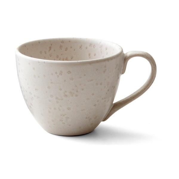 Matte Cream Basics agyagkerámia teáscsésze füllel, 460 ml - Bitz