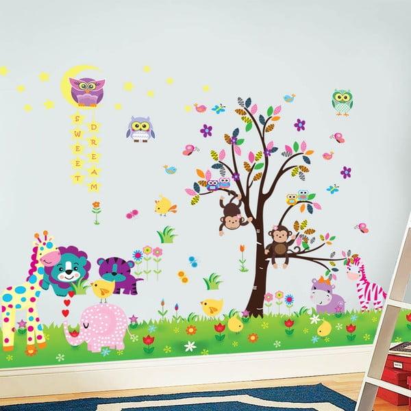 Samolepka na stěnu Šťastná zvířátka