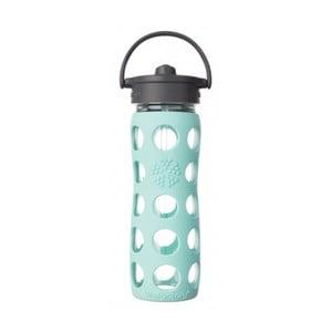 Skleněná lahev na vodu se silikonovým brčkem a chráničem Lifefactory Navaho,475ml