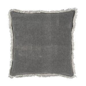 Šedý bavlněný polštář Clayre & Eef Mismo, 45 x 45 cm