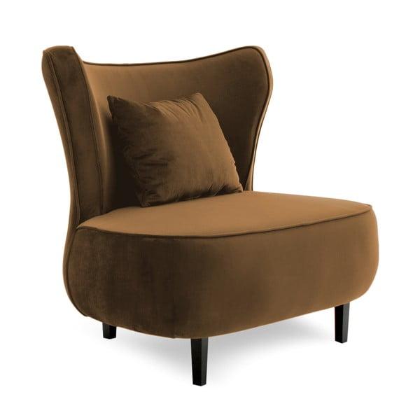Hnědé křeslo Vivonita Douglas Love Seat