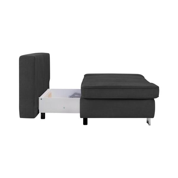 Tmavě šedá dvojmístná rozkládací pohovka Windsor & Co Sofas Iota