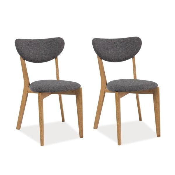 Sada 2 jídelních židlí Andre Grey