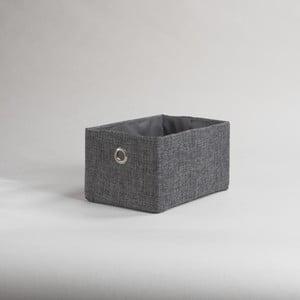 Šedý úložný koš Compactor Bamboo Rujo, 23 x 15 x 12 cm