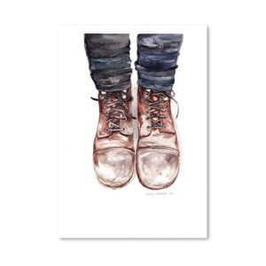 Plakát Dusty Boots, 30x42 cm