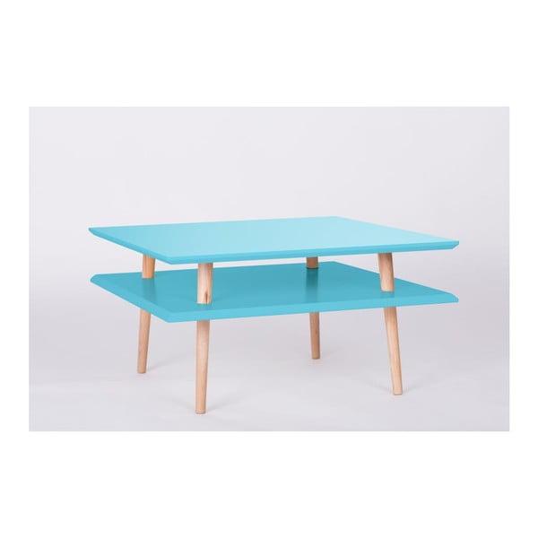 Konferenční stolek UFO Square Dark Turquoise, 68 cm (šířka) a 35 cm (výška)