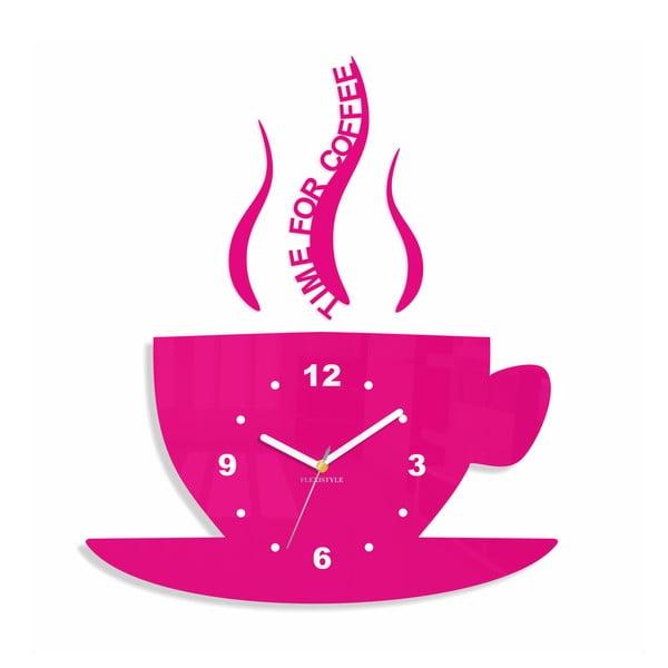 Hodiny z plexiskla Cup Pink
