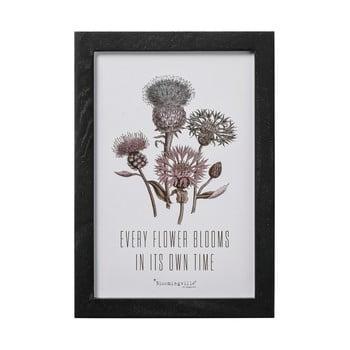 Tablou Bloomingville Lovely Flower Blooms, 30 x 20 cm