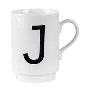 Porcelánový písmenkový hrnek KJ Collection J