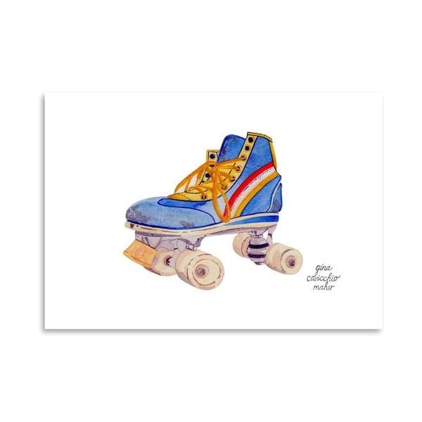 Autorský plakát Roller Skate, 30x42 cm