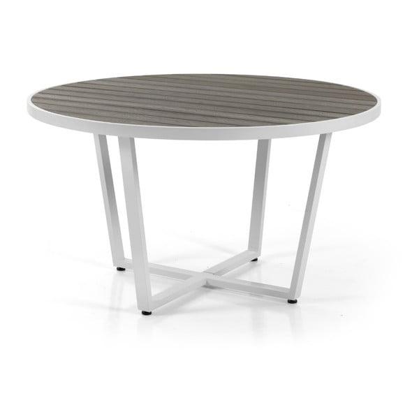 Bílý zahradní jídelní stůl Brafab Leone, ∅130cm