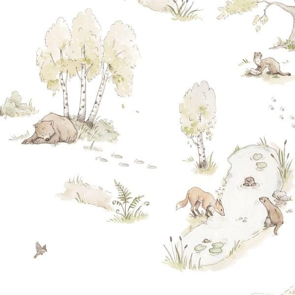 Sada nástěnných samolepek s motivem lesních zvířátek Dekornik