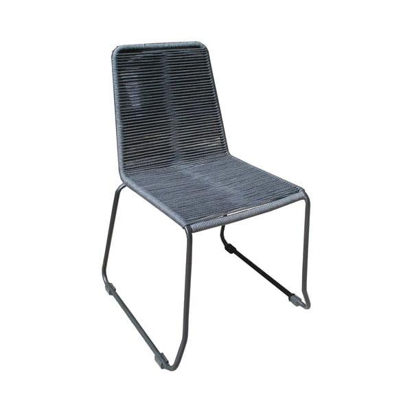 Sada 4 šedých zahradních židlí Ezeis Clipper