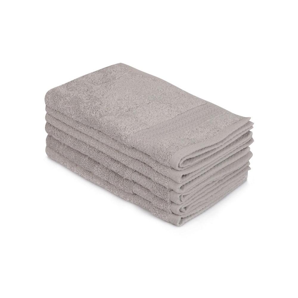 Sada 6 šedých bavlněných ručníků Madame Coco Lento Gris, 30 x 50 cm Hobby