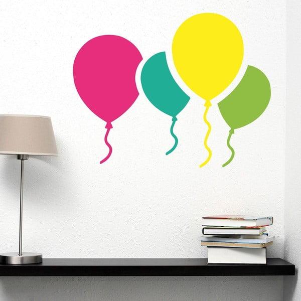 Samolepka na stěnu Colorful Baloons