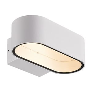 Bílé nástěnné svítidlo SULION Fluvial, 18x11,6cm