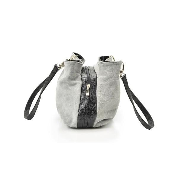 Kožená kabelka Gigi, šedá