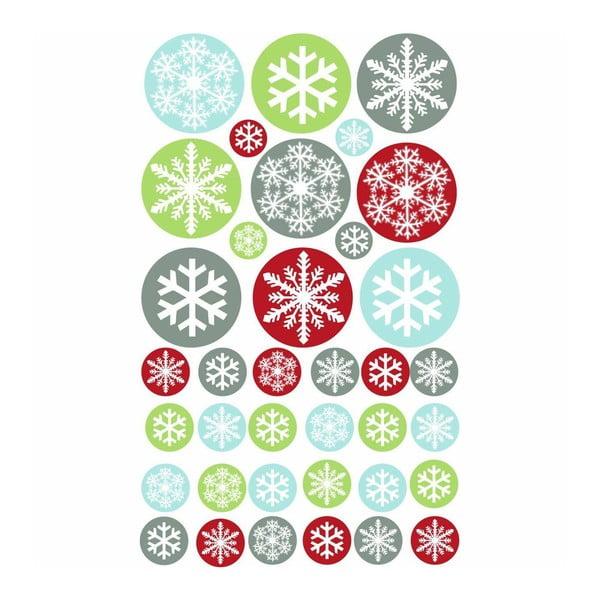 Samolepka 50 Multicolor Christmas Balls