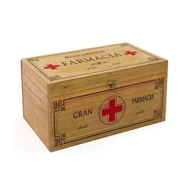 Krabička jako lékárnička Pine, 30x15 cm