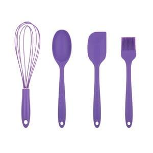 Sada 4 fialových kuchyňských náčiní Tantitoni Bake It