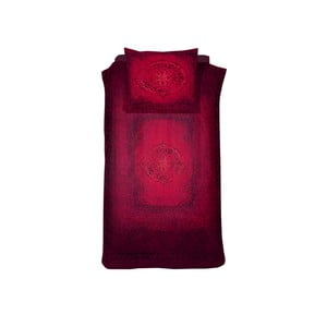 Červené bavlněné povlečení na jednolůžko Damai Salome Carmine, 200x140cm