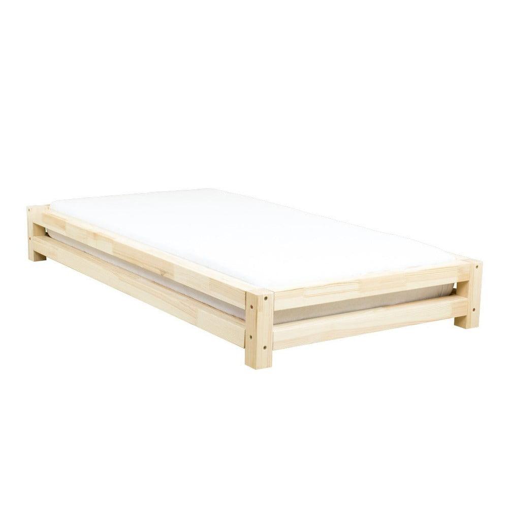 Jednolůžková postel zlakovaného borovicového dřeva Benlemi JAPA, 120x200cm