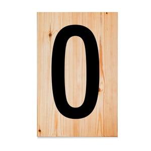 Dřevěná cedule Letters O