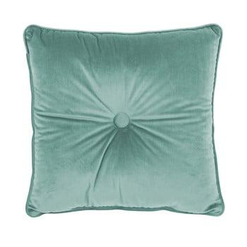 Pernă Tiseco Home Studio Velvet Button, 45x45cm, verde deschis de la Tiseco Home Studio