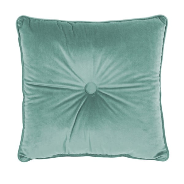 Pernă Tiseco Home Studio Velvet Button, 45 x 45 cm, verde deschis