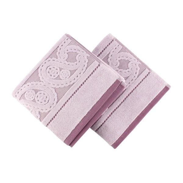 Sada 2 fialových ručníků Hurrem, 50x90cm