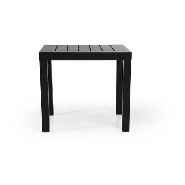 Černý zahradní stolek Brafab Belfort, 50x50cm