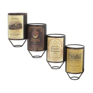 Nástěnný stojan na vína, 20x11x52,5 cm