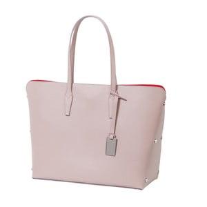 Geantă din piele naturală Andrea Cardone Eulalia, roz deschis