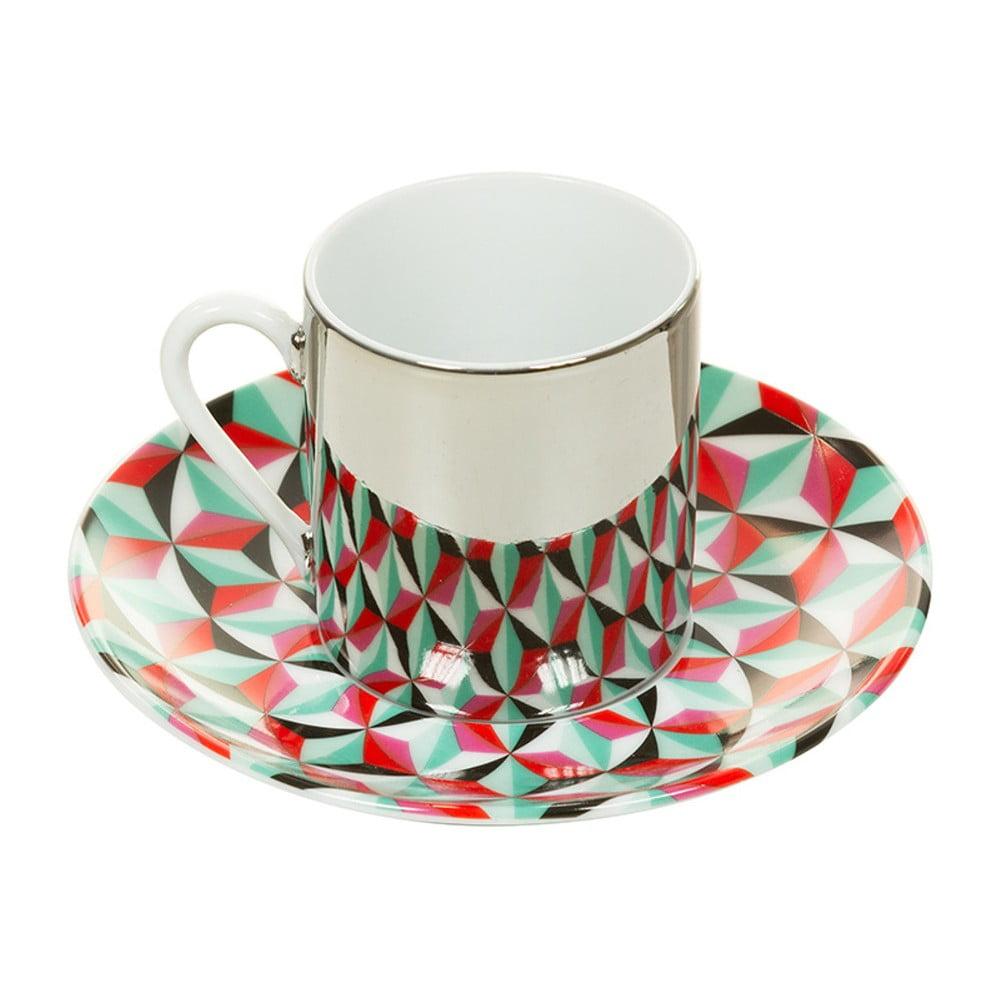Porcelánový šálek s podšálkem Santiago Pons Magic Color, 80 ml
