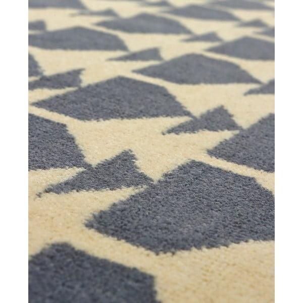 Vlněný koberec Oslo no.1, 140x200 cm, šedý