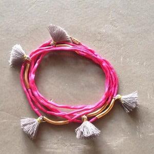 Dlouhý náhrdelník/náramek Kasbah Pink